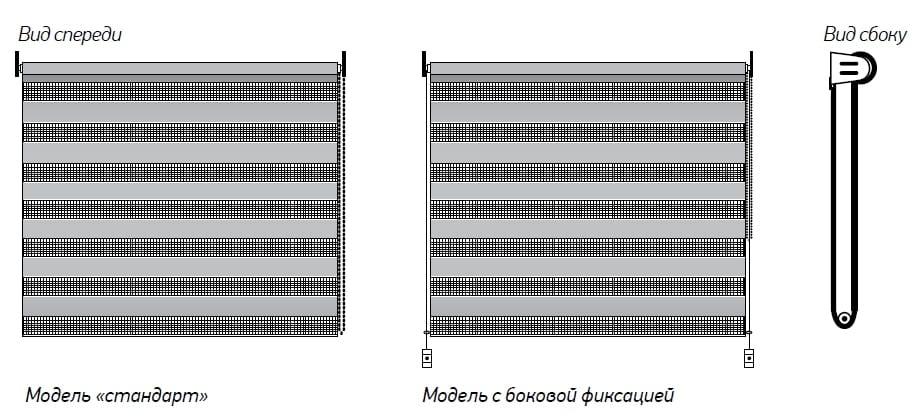 Рулонные шторы «Зебра Мини»