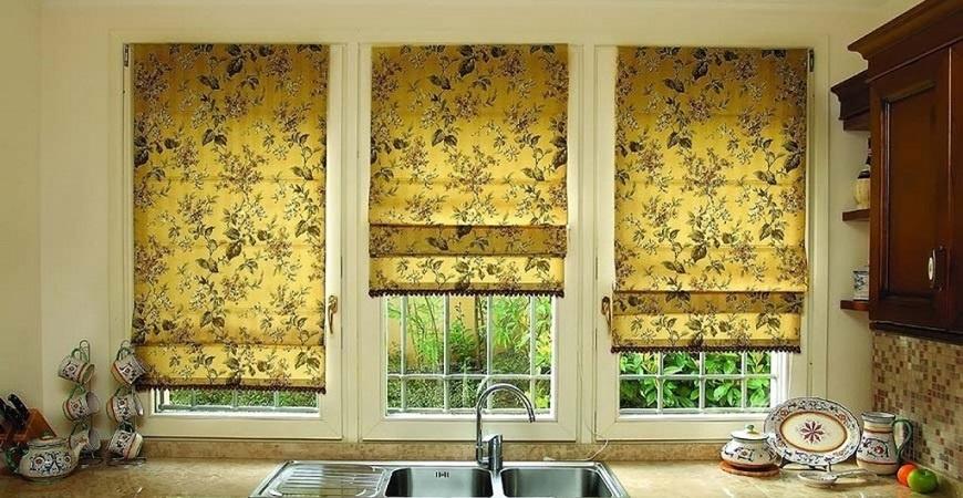 шторы на кухню с фотопечатью